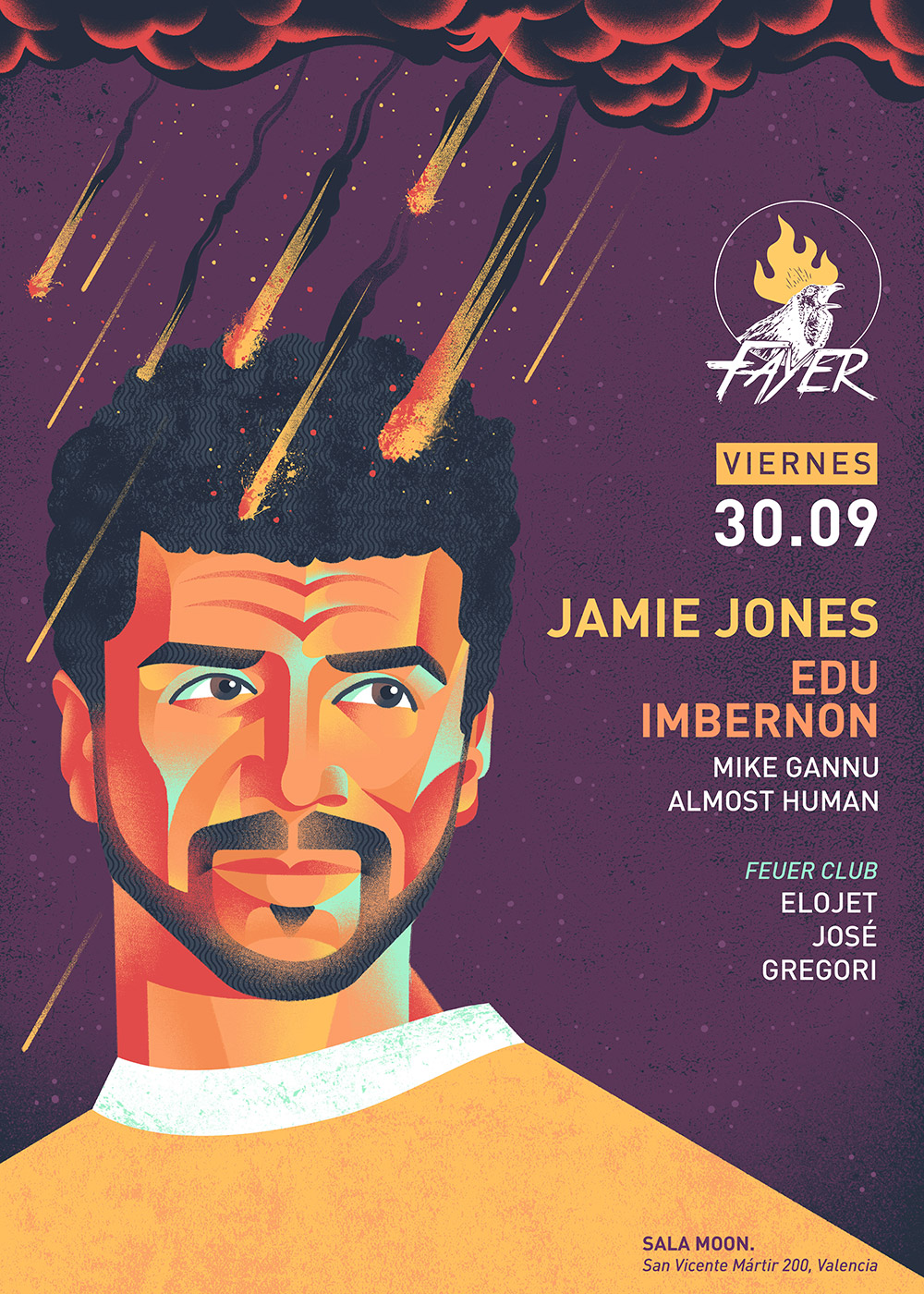 Jamie Jones next friday 30 of september at Moon Valencia with Fayer
