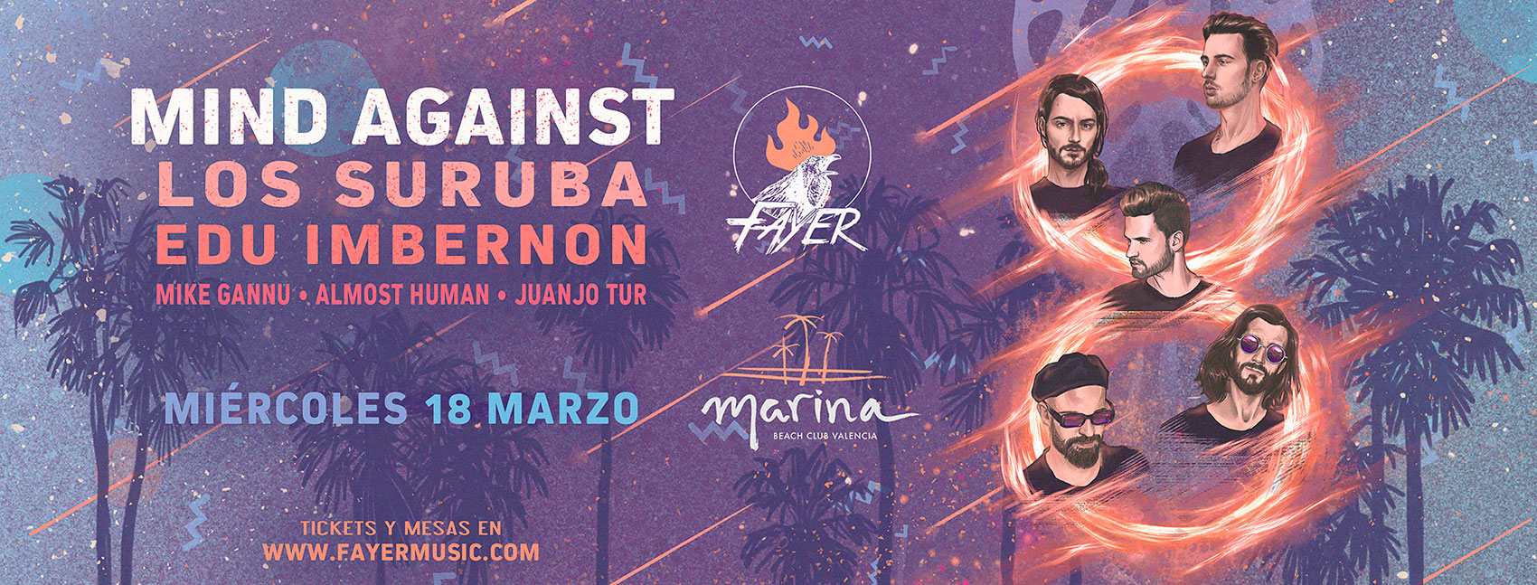 Mind Against and Los Suruba next Fayer march 2020 Valencia